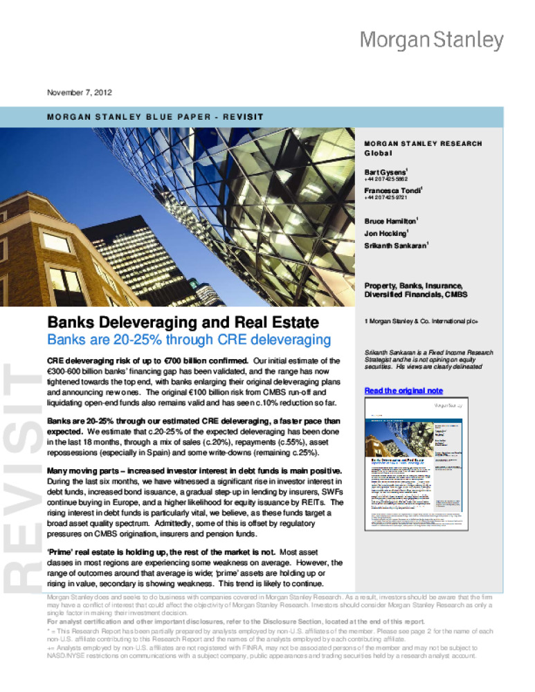 Banks Deleveraging and Real Estate - Business Immo