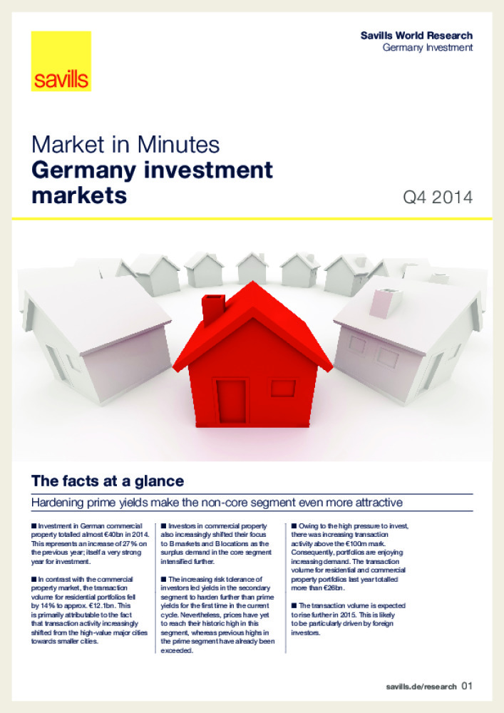 Germany investment markets - Q4 2014 - Business Immo