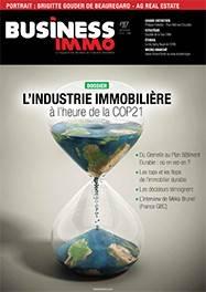 Le #117 de juillet-août 2015du magazine Business Immo consacré à la COP21