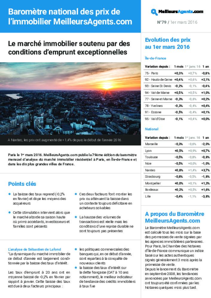 Le Marche Immobilier Soutenu Par Des Conditions D Emprunt