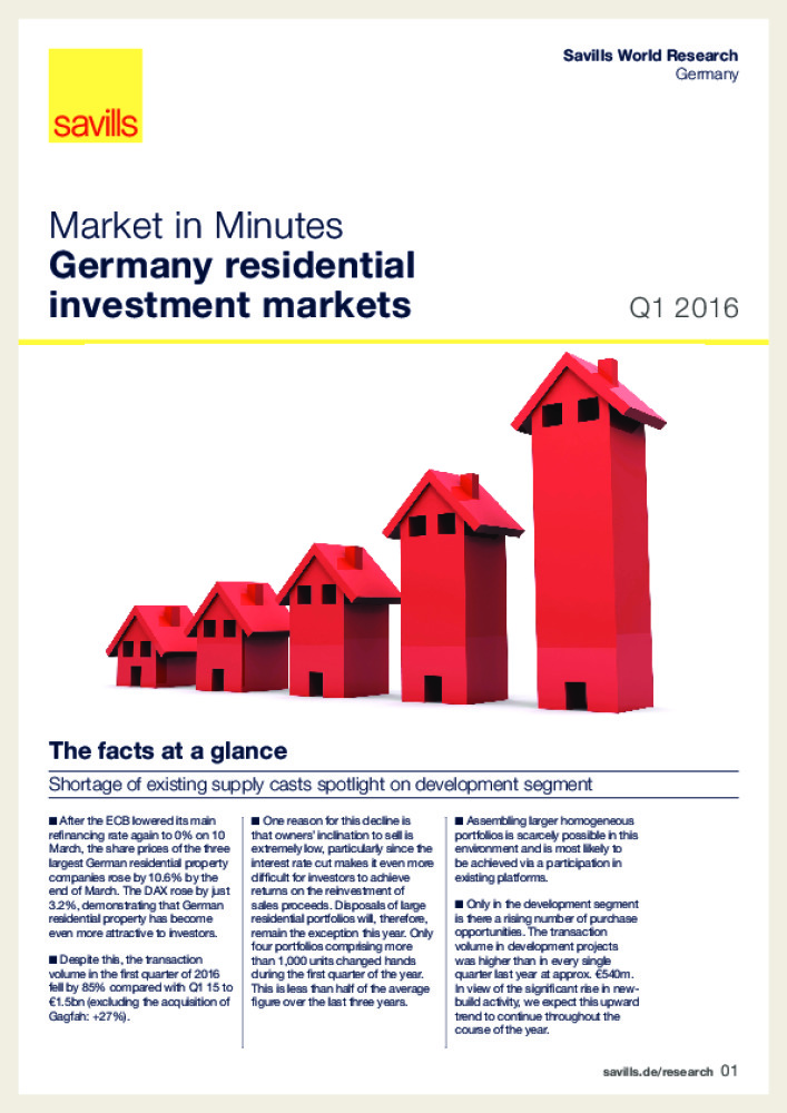 Germany residential investment markets - Q1 2016 - Business Immo
