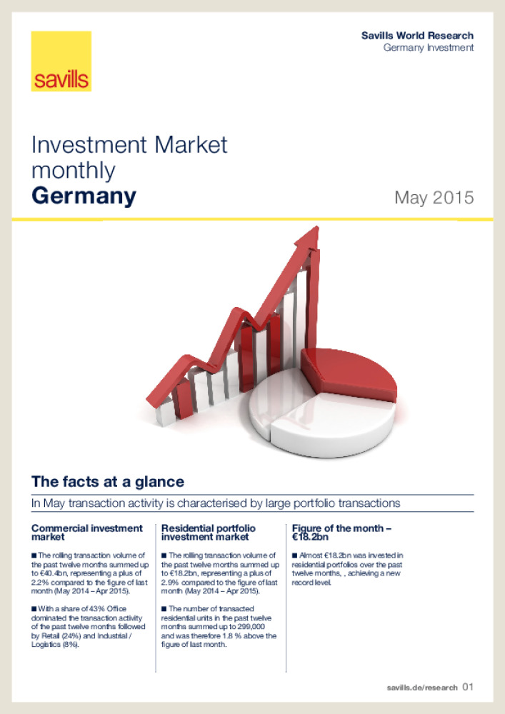 Germany : Investment Market monthly - May 2015 - Business Immo