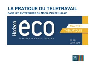 La  pratique du télétravail dans les entreprises du Nord pas de Calais