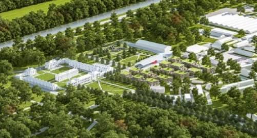 Vue aérienne du quartier des Héronnières dans son état futur.