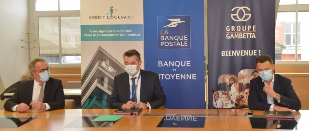 La Banque postale, Crédit logement et le groupe Gambetta s'engagent en faveur de l'accession sociale à la propriété 1